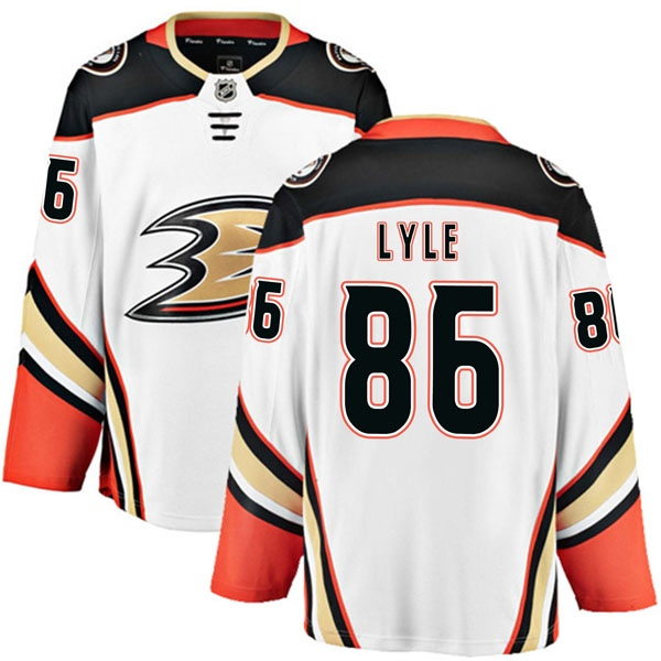 official photos a372e 69b4c Men's Brady Lyle Anaheim Ducks Fanatics Branded Away Jersey - Authentic  White - Ducks Shop